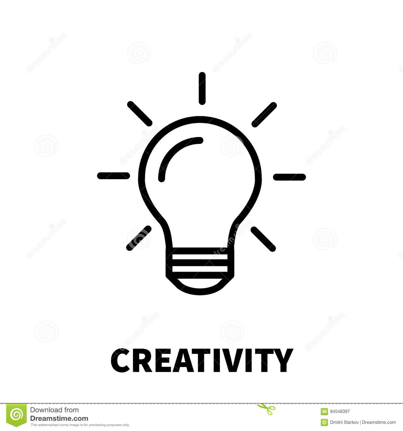Creativity Icon Or Logo In Modern Line Style. Stock Vector