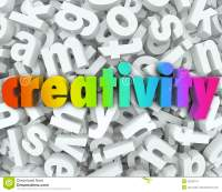 Creativity Imagination 3d Letter Word Background Creative ...
