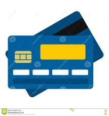Credit Card Icon Flat Style Stock Vector - Illustration