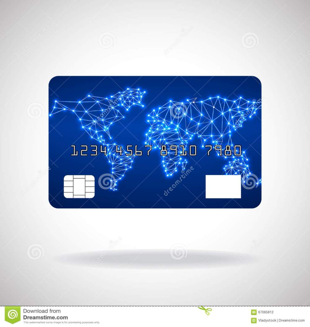 medium resolution of illustration credit card icon with world map