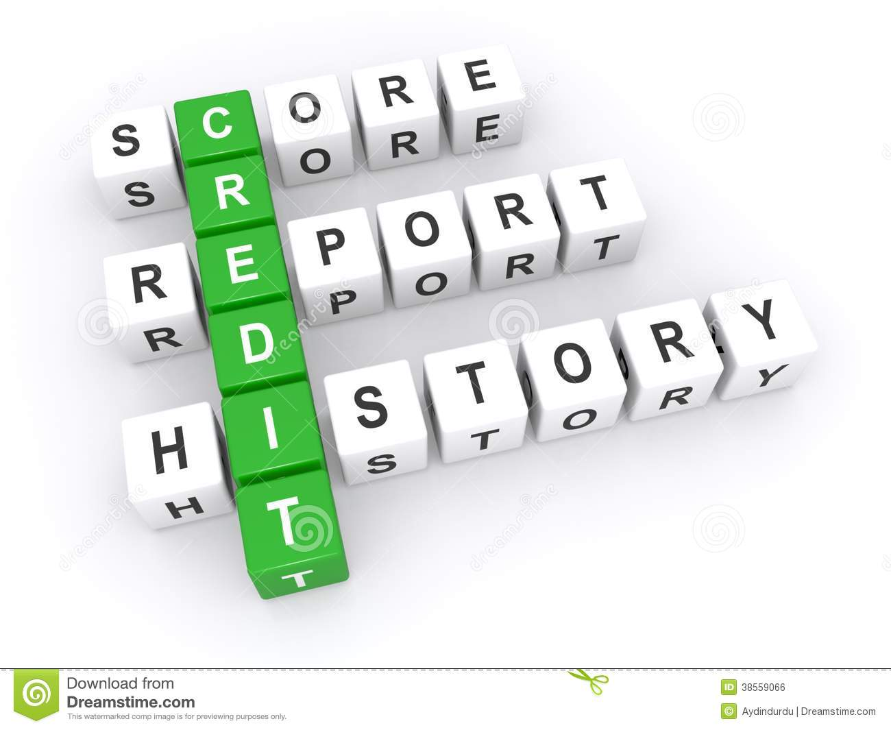 Credit score report stock illustration Image of above