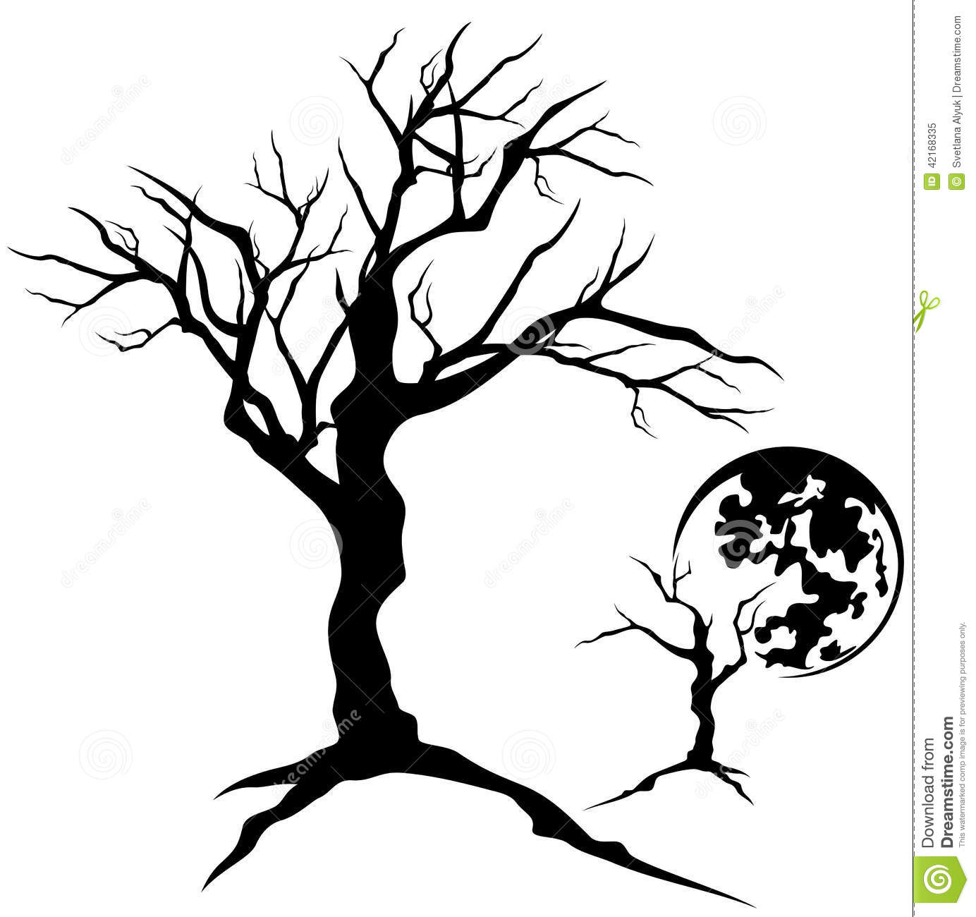 Creepy Tree Stock Vector Illustration Of Halloween