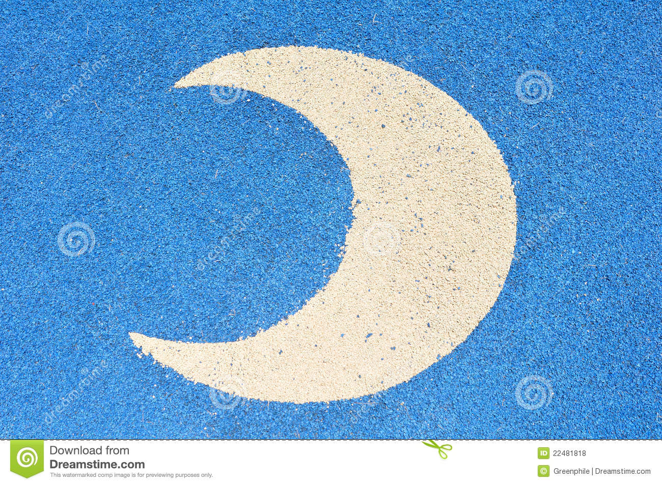 Crescent Moon Label Decorated On Jogging Lane Images