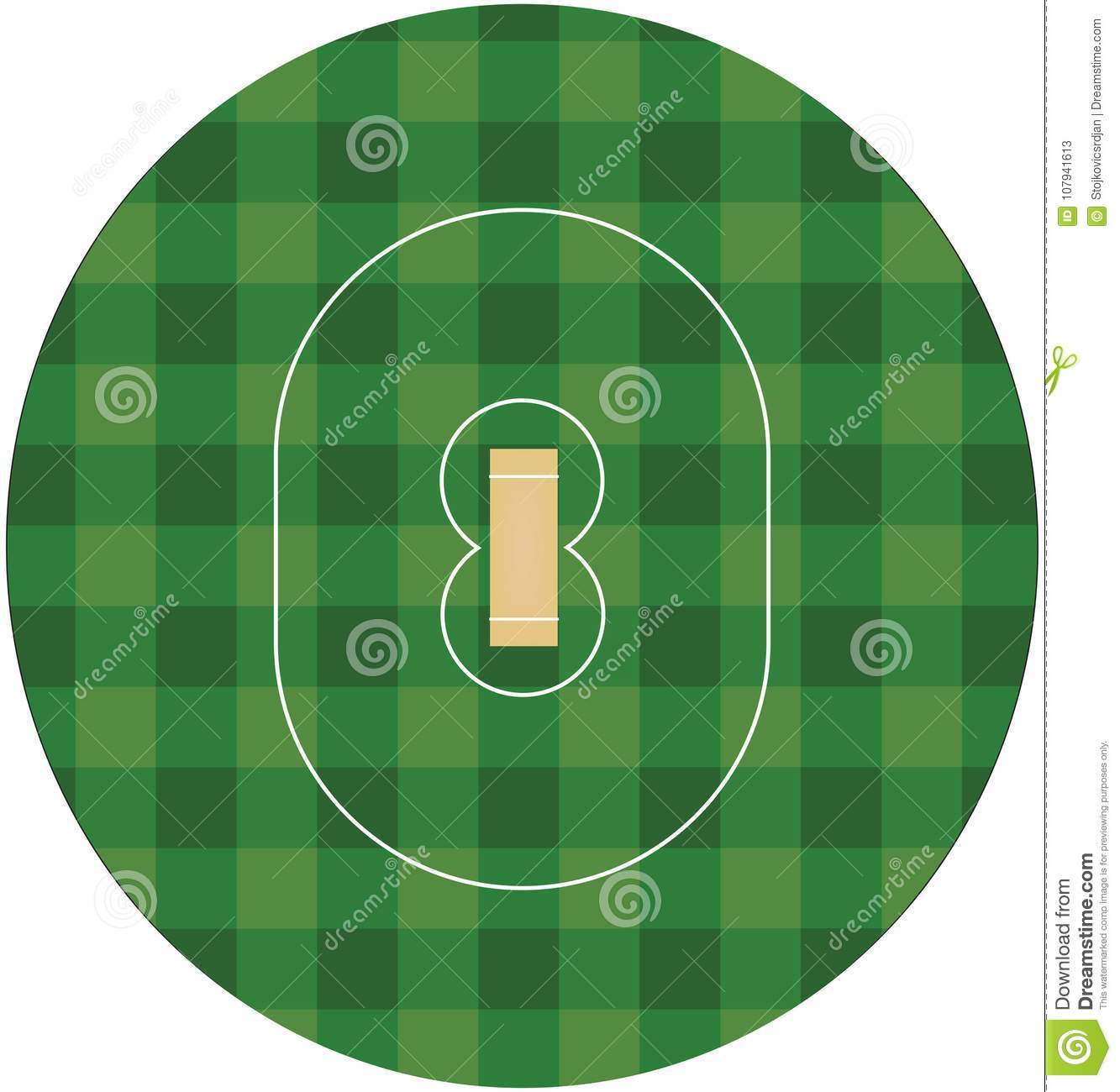 hight resolution of cricket field top view