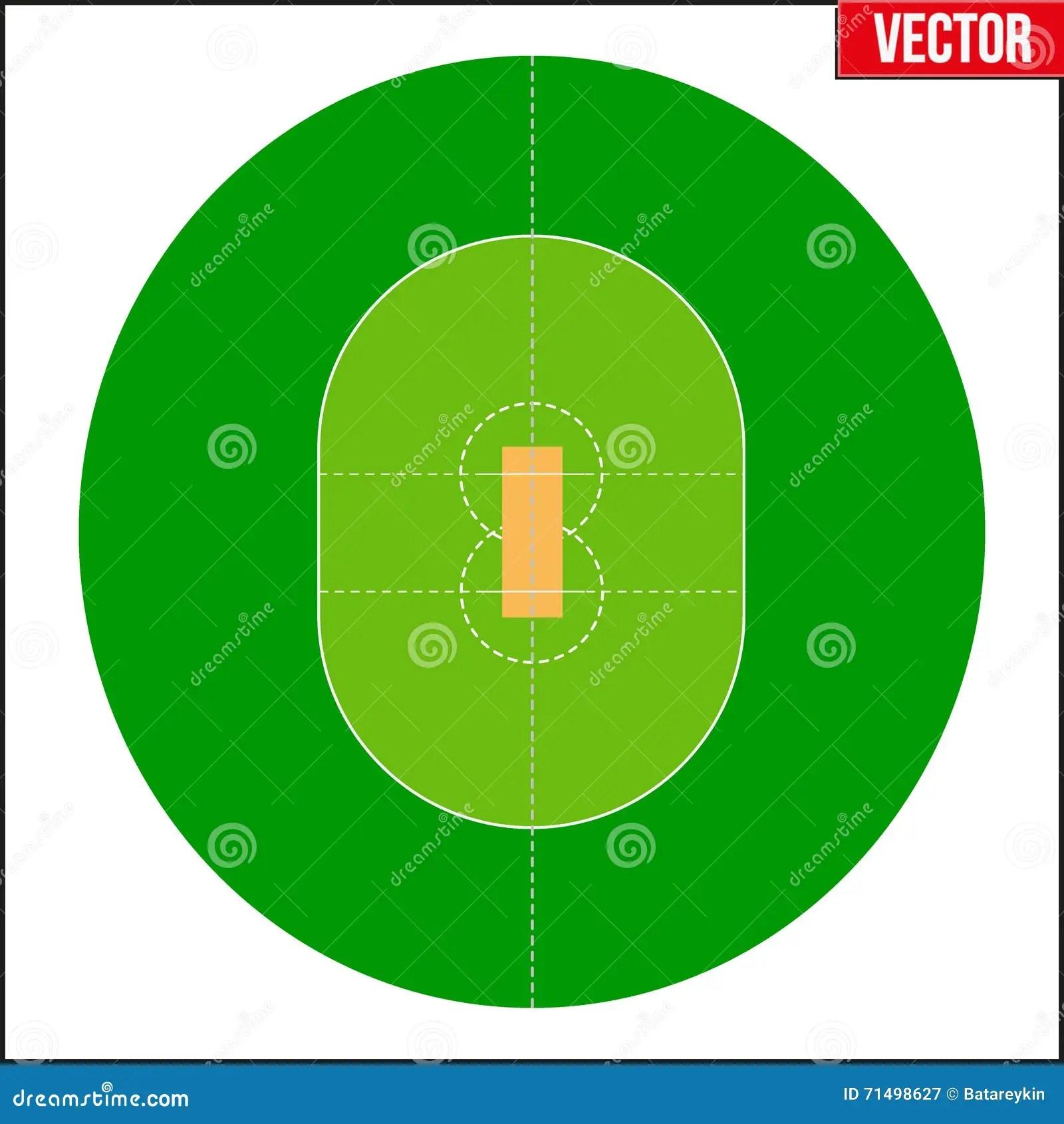 hight resolution of cricket field vector illustration