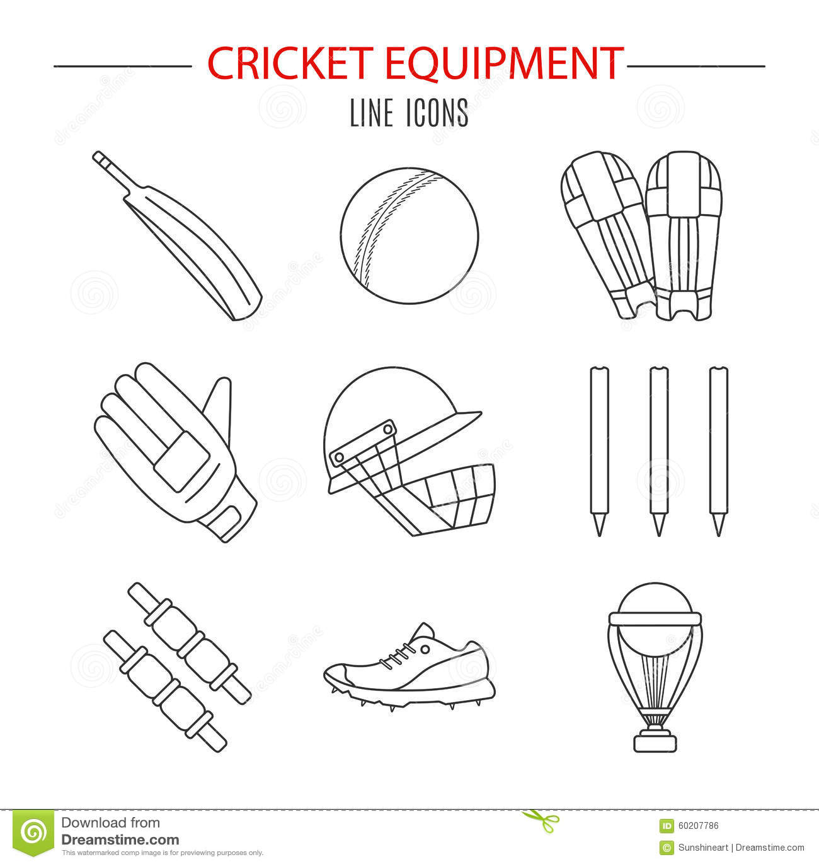 Cricket Game Vector Concept Stock Vector