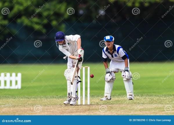 Cricket Junior Action Batsman Editorial