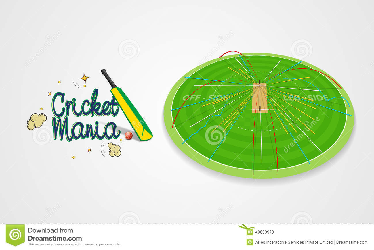 hight resolution of cricket sports concept with bat and ball shot