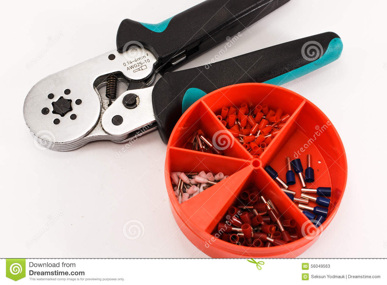 Crimping Tool And Accessories For Cable Wiring Stock