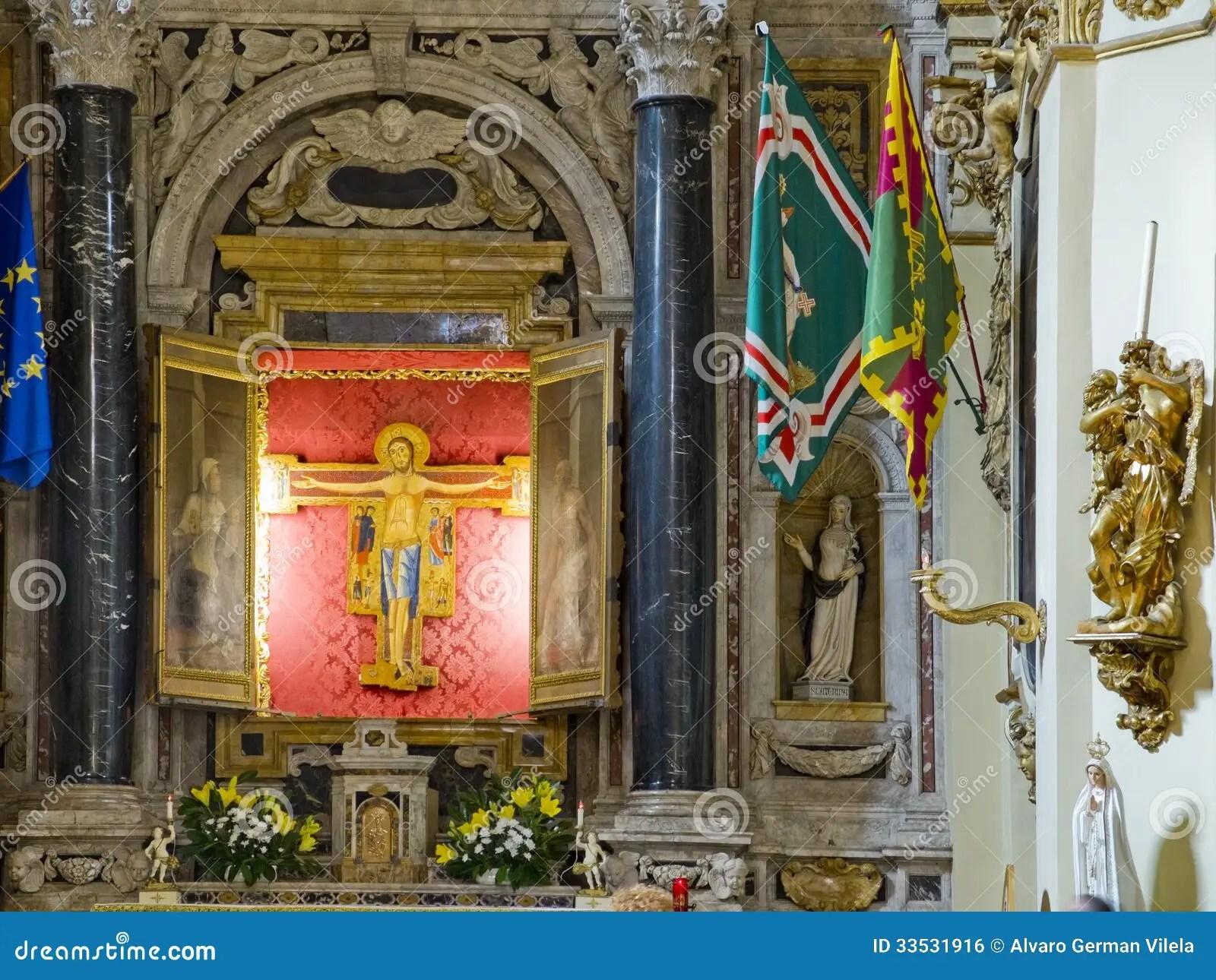 The Crocifisso Church In Casa Santuario Di Santa Caterina Siena Italy Stock Photo  Image