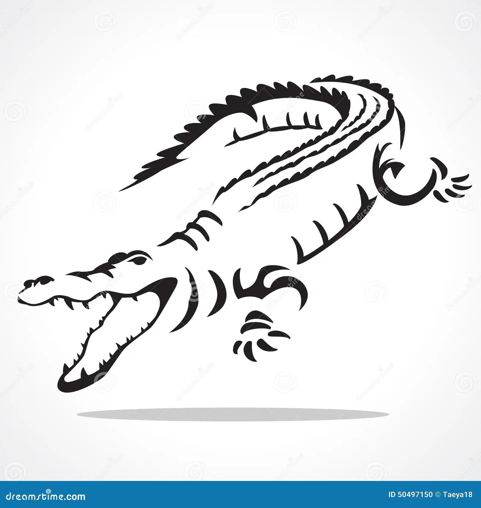 Crocodile Graphic Stock Illustration Illustration Of