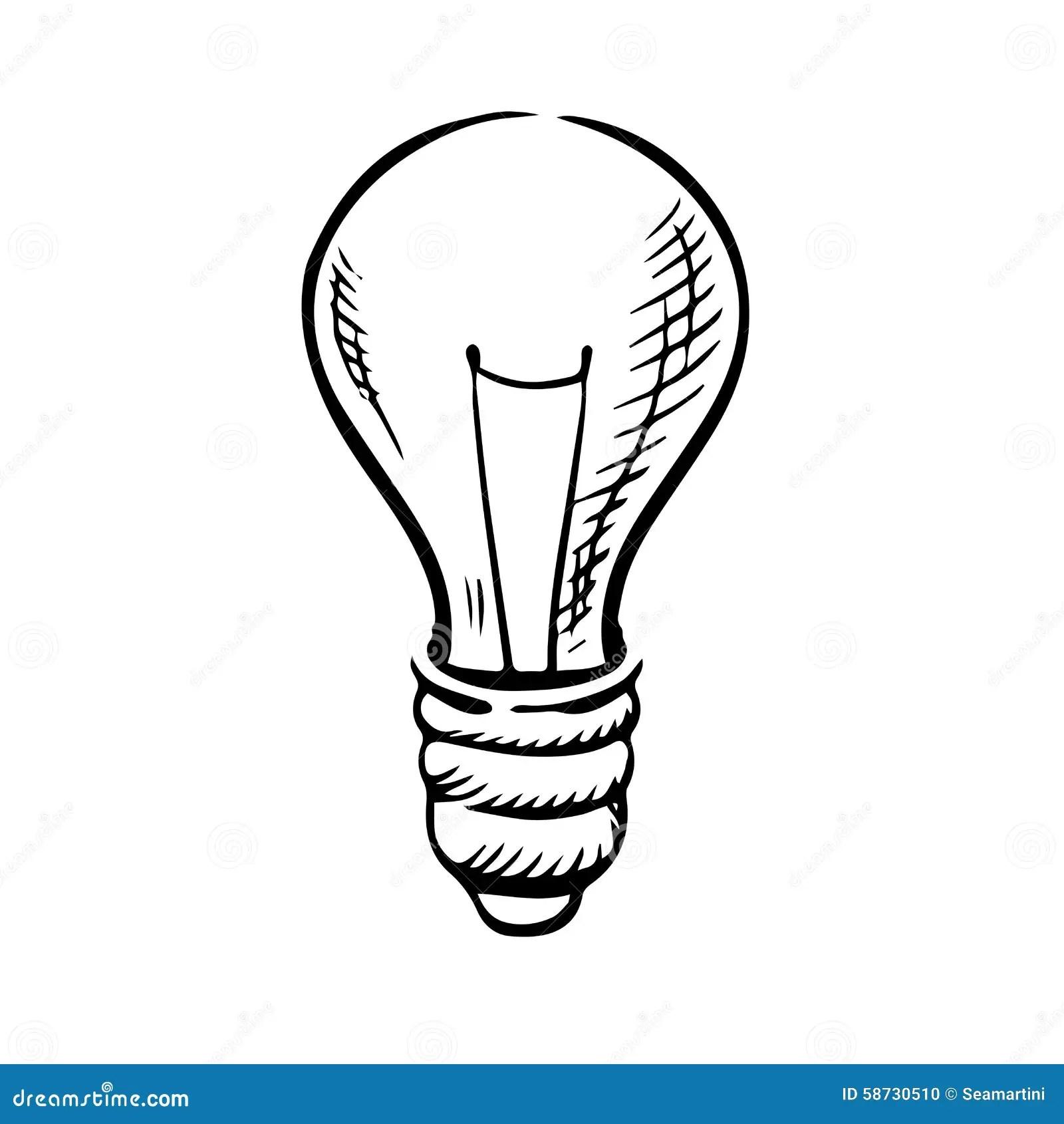 Croquis D Icone D Ampoule Illustration De Vecteur
