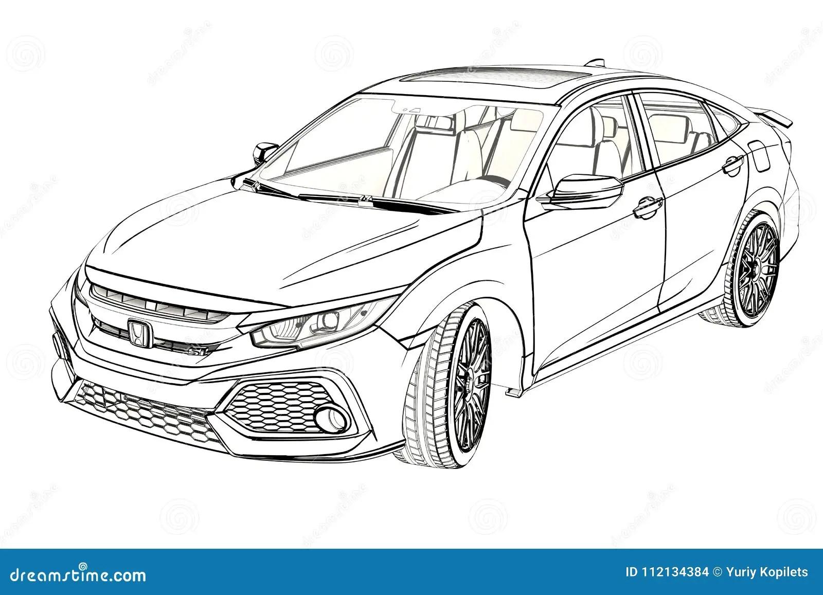 Croquis De Graphique De Honda Civic De Berline
