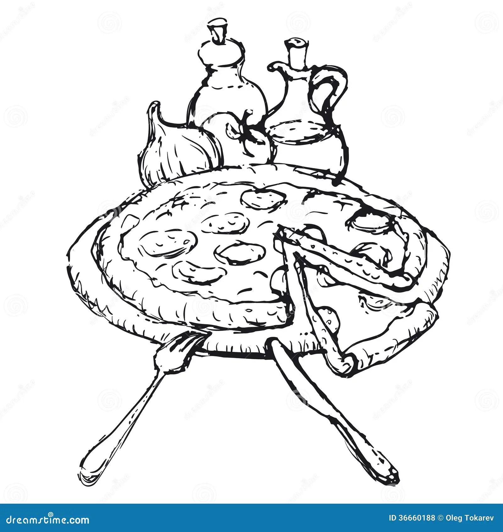 Croquis De Pizza Illustration Stock Illustration Du