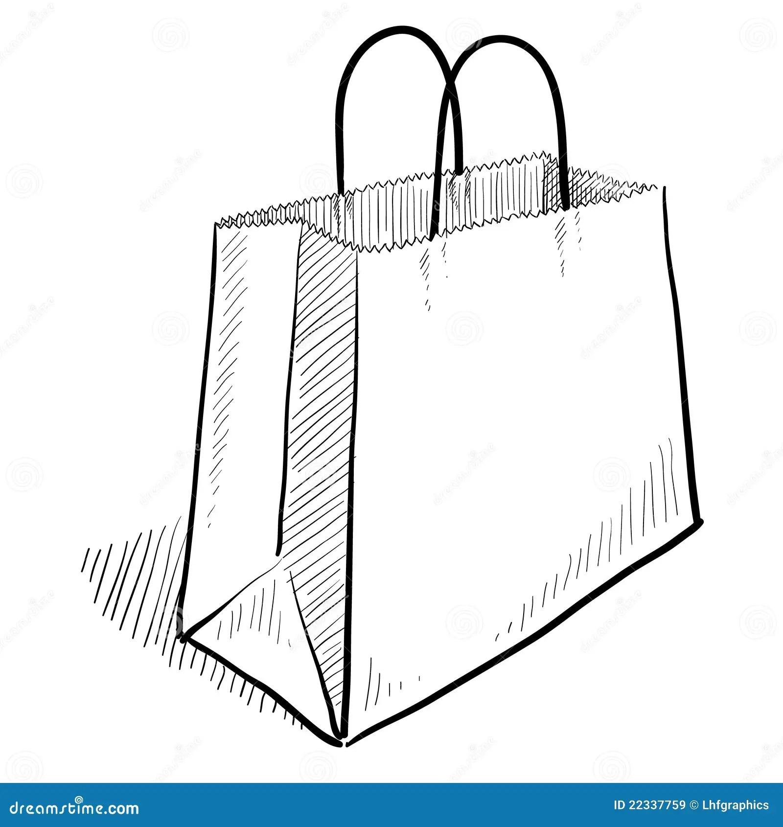 Croquis De Sac A Provisions Illustration De Vecteur