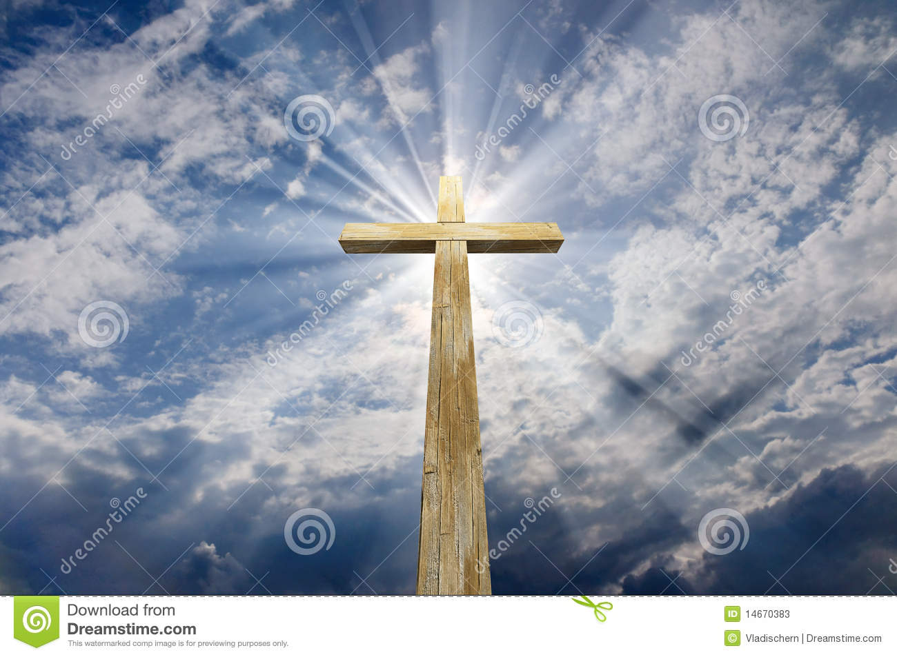 Jesus Christ 3d Wallpaper Cross Against The Sky Stock Photos Image 14670383