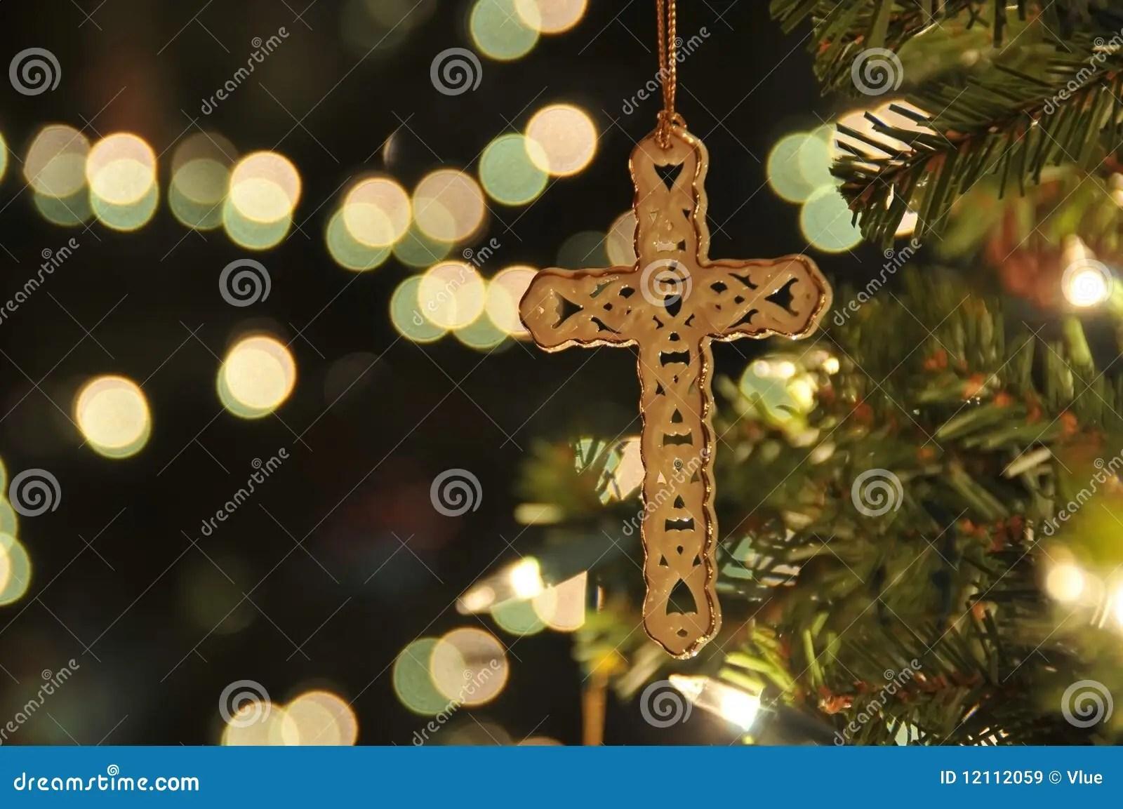 cross ornament on christmas