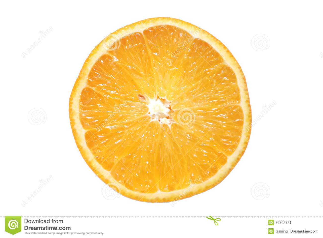 A Cross Sectional View Of The Orange Stock Image