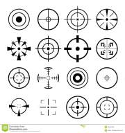 crosshair icon stock illustration