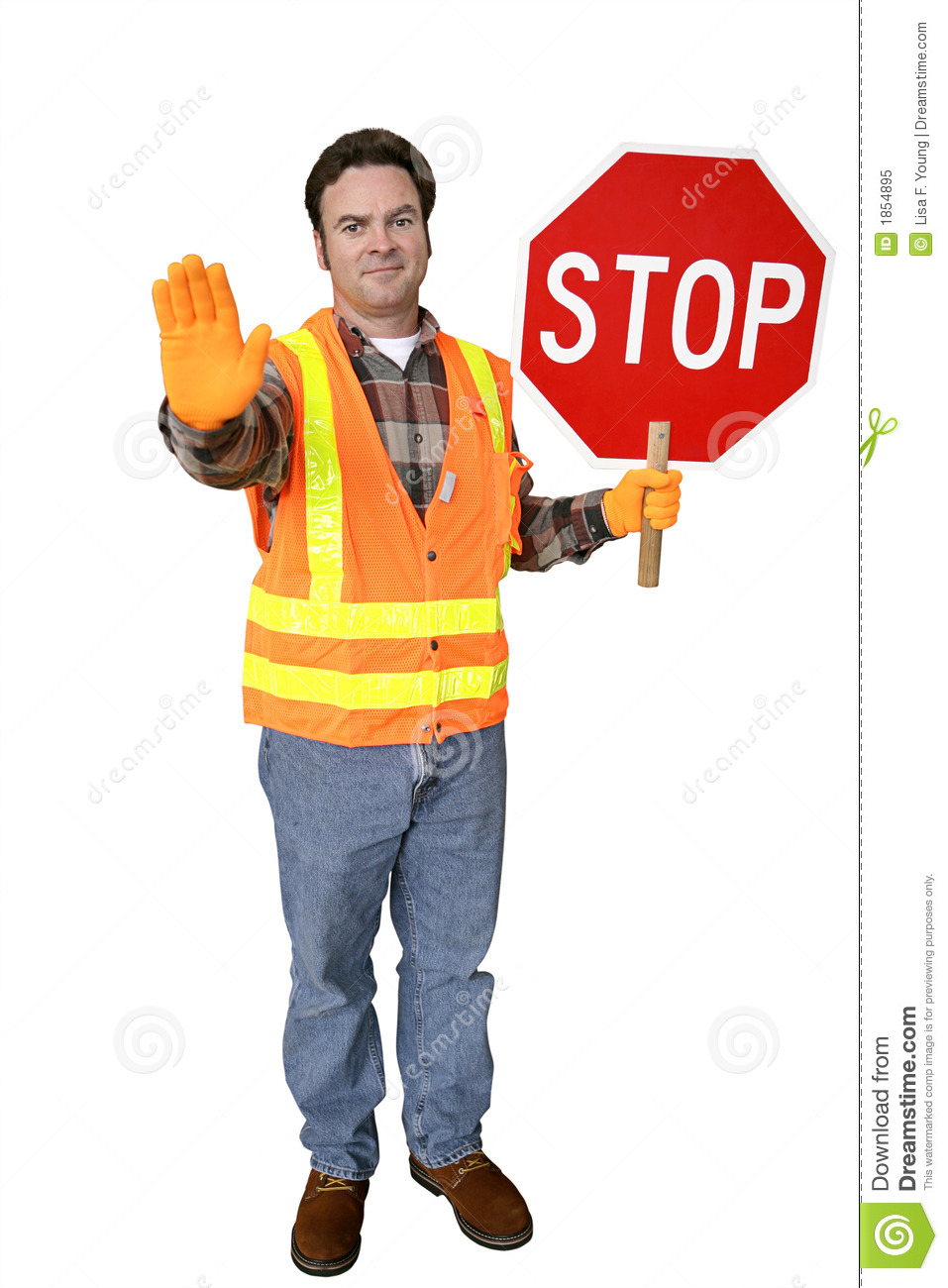 Crossing Guard Full Body Isolated Royalty Free Stock Photo  Image 1854895