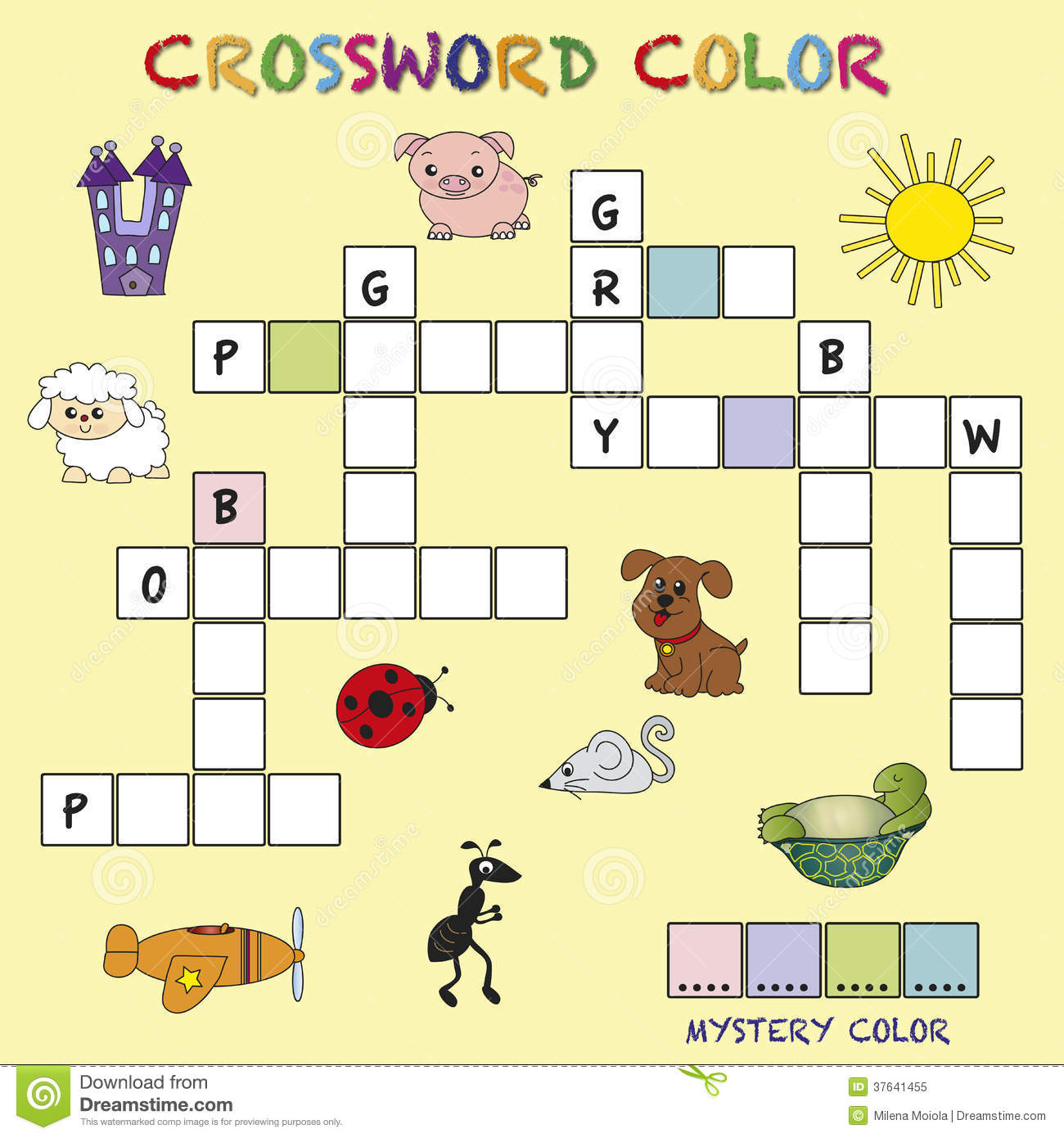 Crossword Color Royalty Free Stock Photo