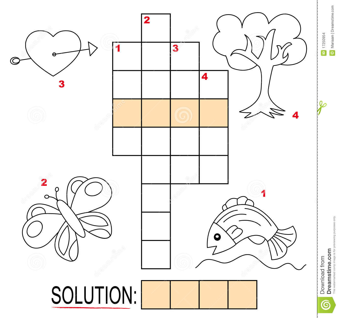Crossword Puzzle For Kids Part 2 Stock Images