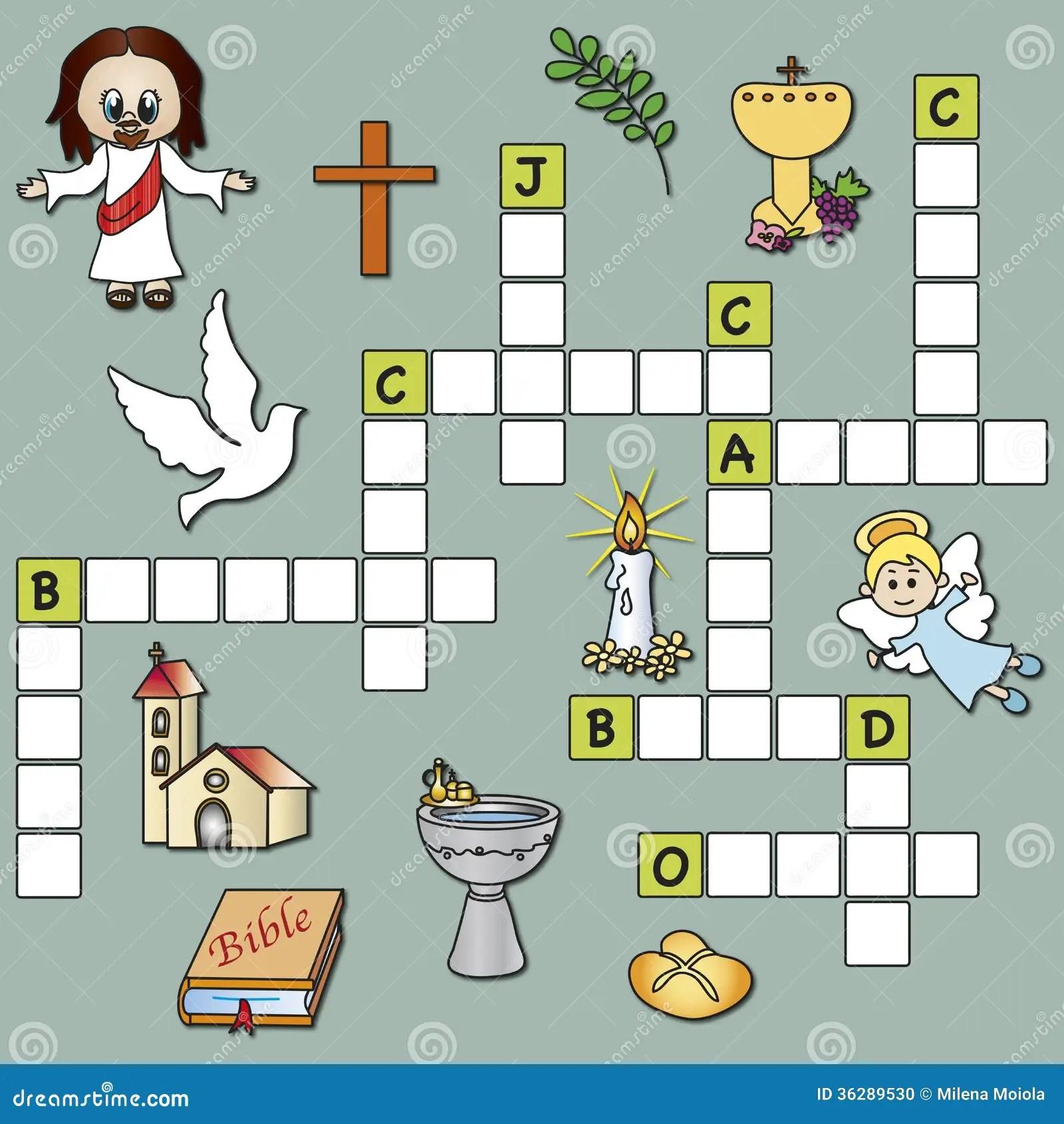 Crossword Religion Stock Photo