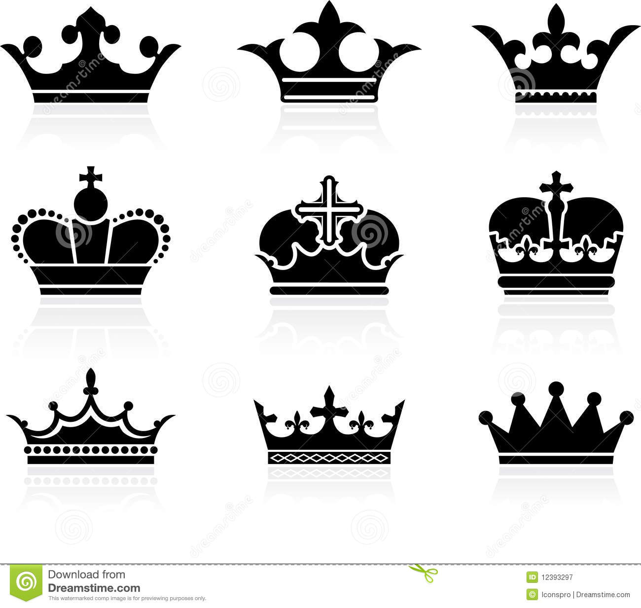 Crown Design Collection Royalty Free Stock Photography