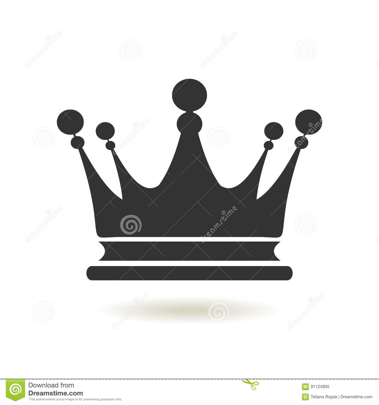 crown icon in trendy