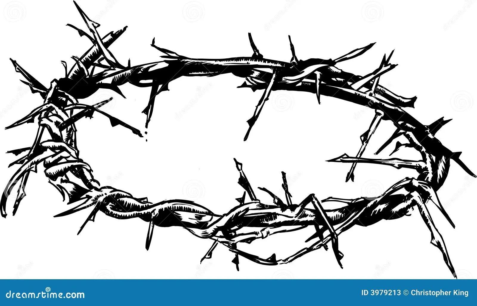 Crown Of Thorns Vector Illustration Cartoon Vector
