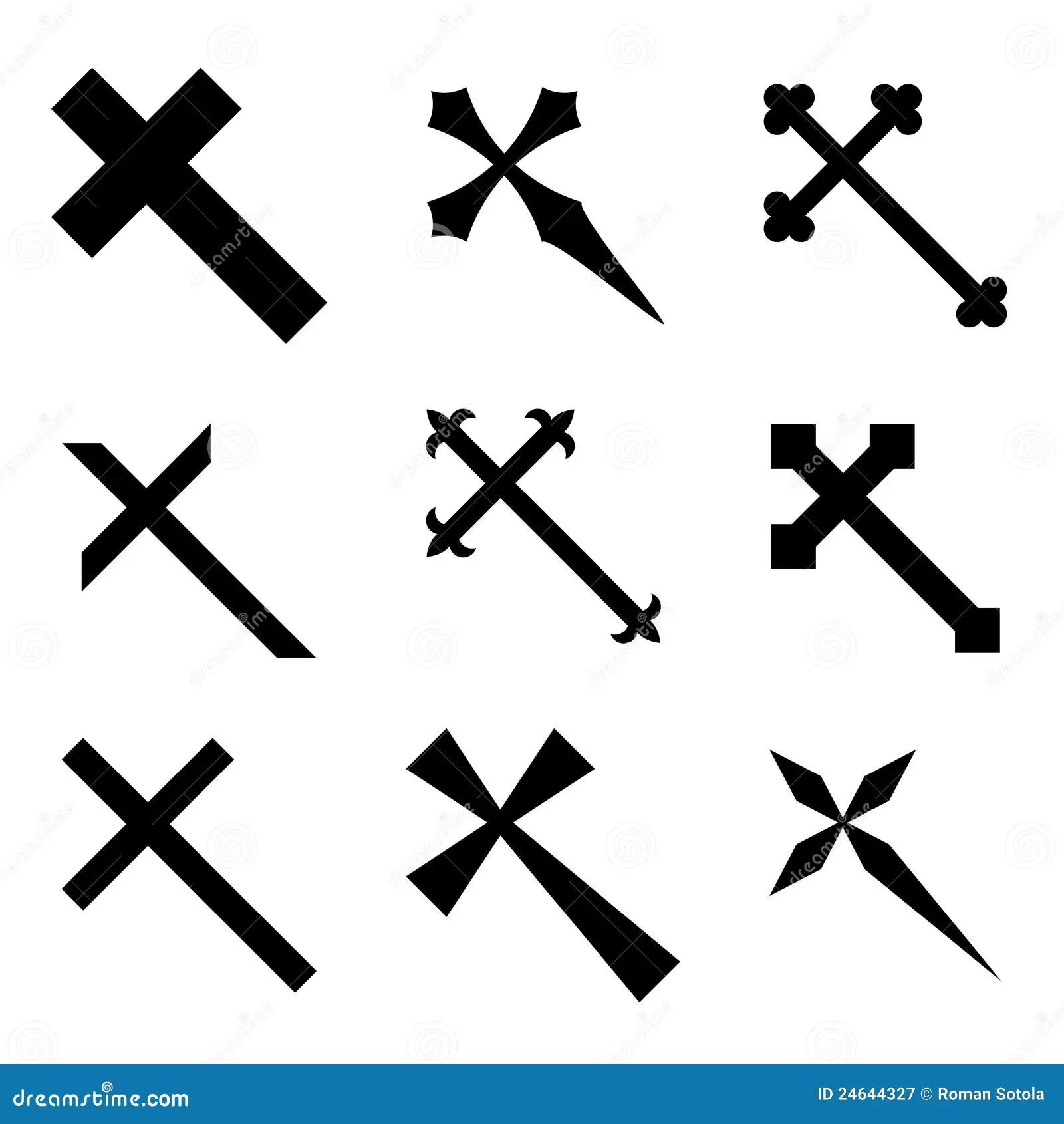 Cruces Cristianas Ilustracion Del Vector Ilustracion De