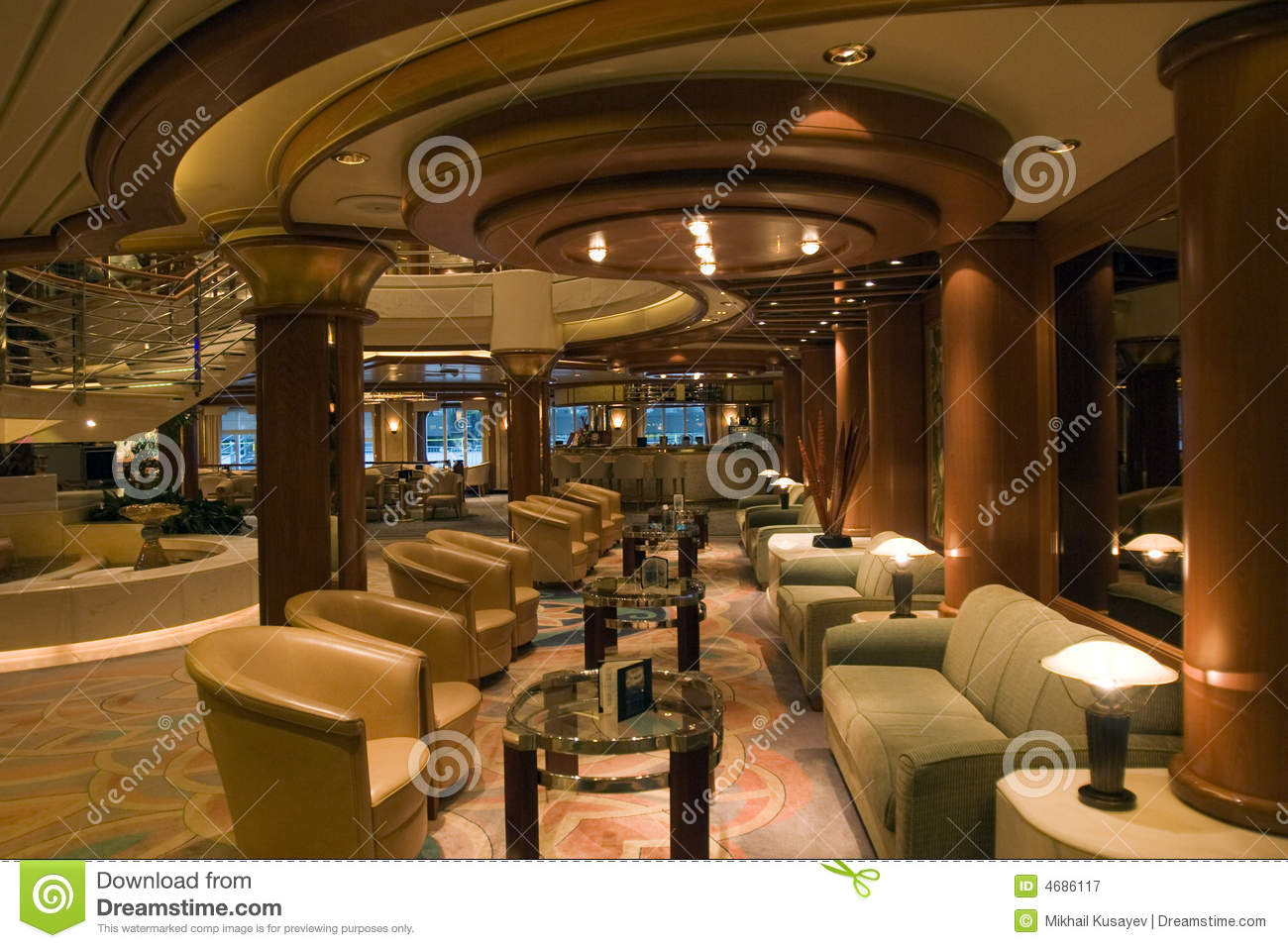 Cruise Interior Royalty Free Stock Photography  Image