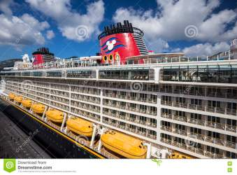Cruise Ship Disney Fantasy Docked In The Port Of Road Town Editorial Stock Image Image of ocean caribbean: 76175029