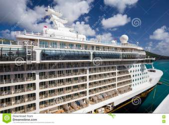 Cruise Ship Disney Fantasy Docked In The Port Of Road Town Editorial Stock Photo Image of cruise orchestra: 76175043