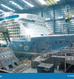cruise ship under construction [ 1300 x 954 Pixel ]