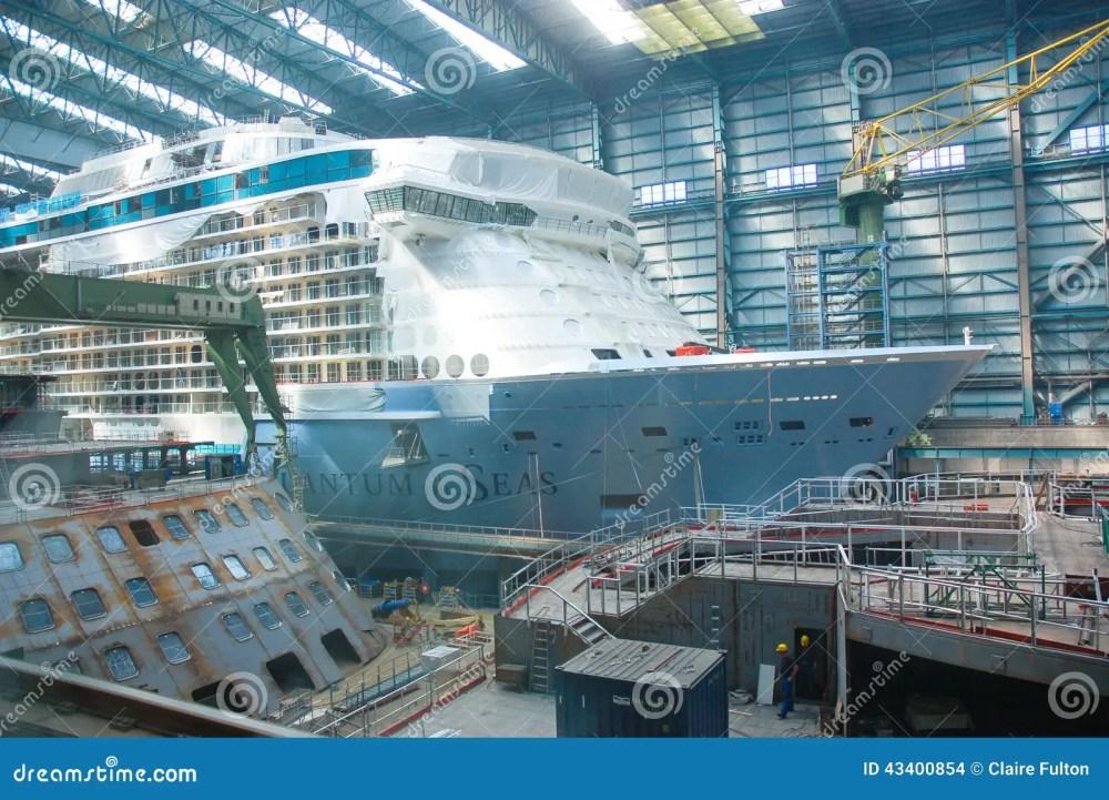 medium resolution of cruise ship under construction