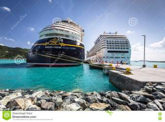 Cruise Ships MSC Orchestra And Disney Fantasy Docked In The Port Editorial Photo Image of british coast: 76174736