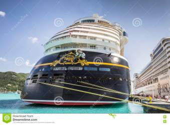 Cruise Ships MSC Orchestra And Disney Fantasy Docked In The Port Editorial Stock Image Image of coastline beach: 76175134