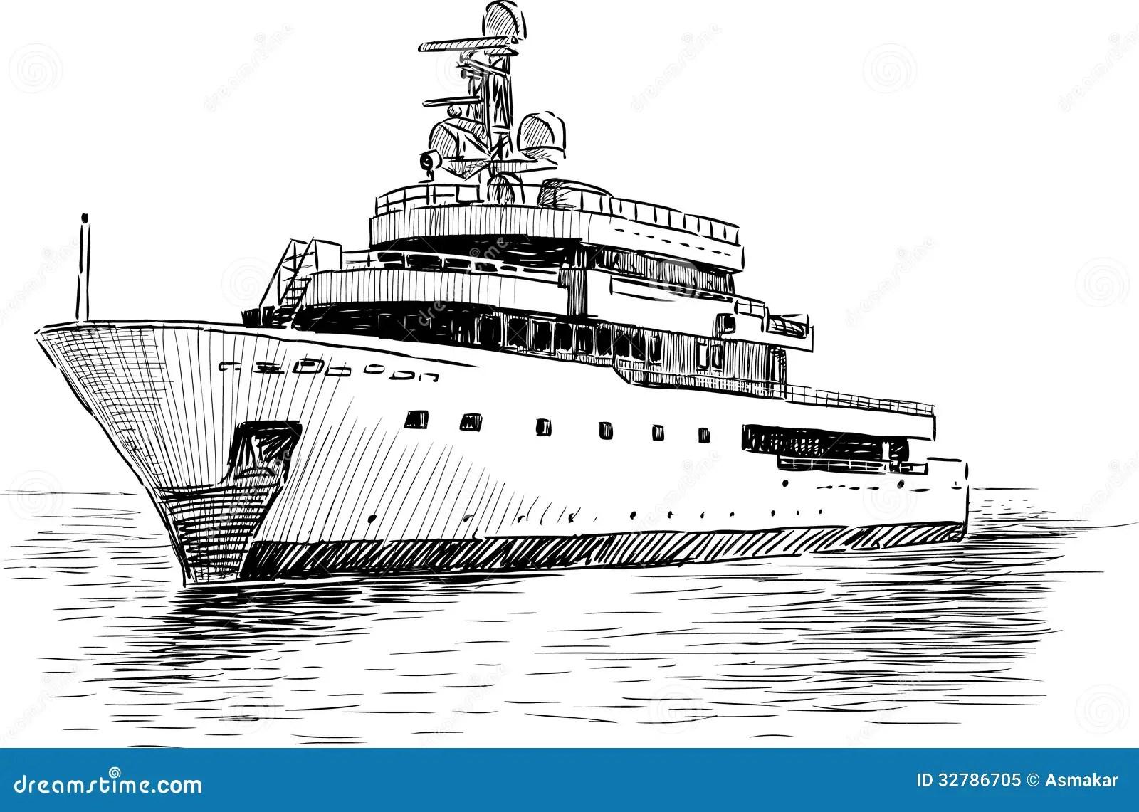 Cruisejacht Vector Illustratie Illustratie Bestaande Uit