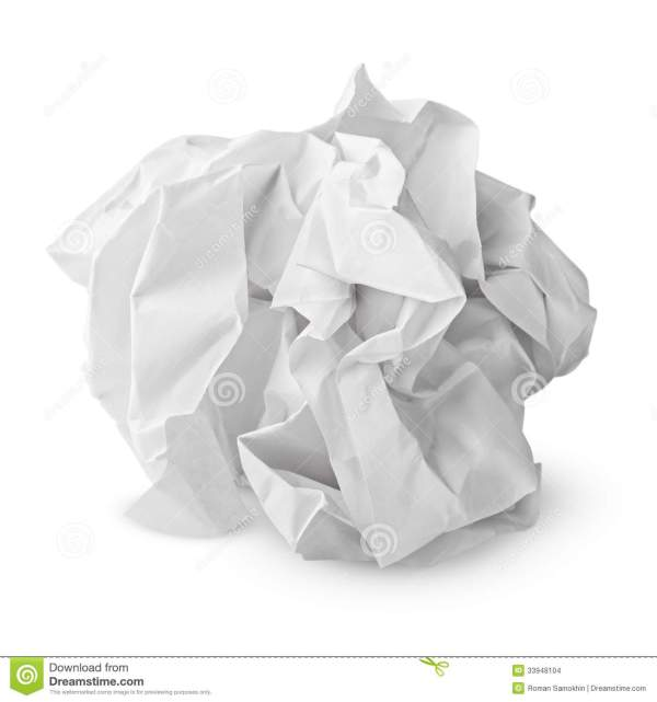Crumpled paper ball stock photo Image of page crimped
