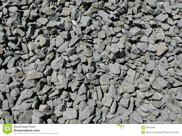 Crushed Black Basalt Rock