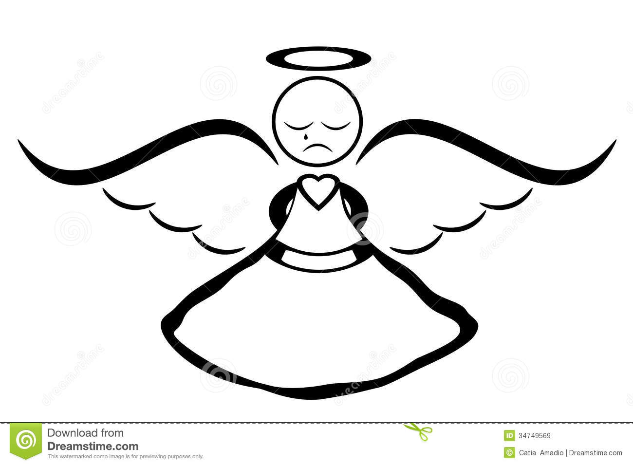 Crying Angel Royalty Free Stock Images