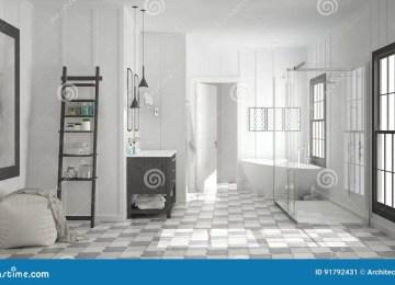 Baño Minimalista Blanco | Diseño De Cuartos De Baño Minimalistas