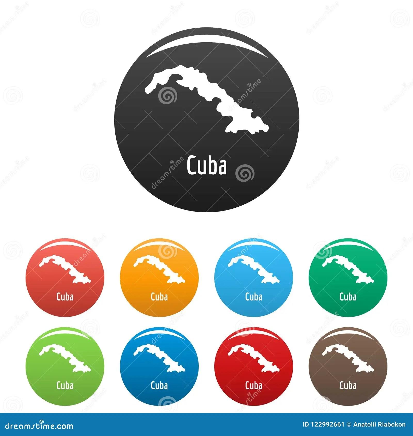 Cuba Map In Black Set Simple Stock Illustration