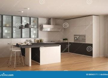 Cucina Bianca E Grigia | Cucina Bianca E Grigia Fotografia Stock ...