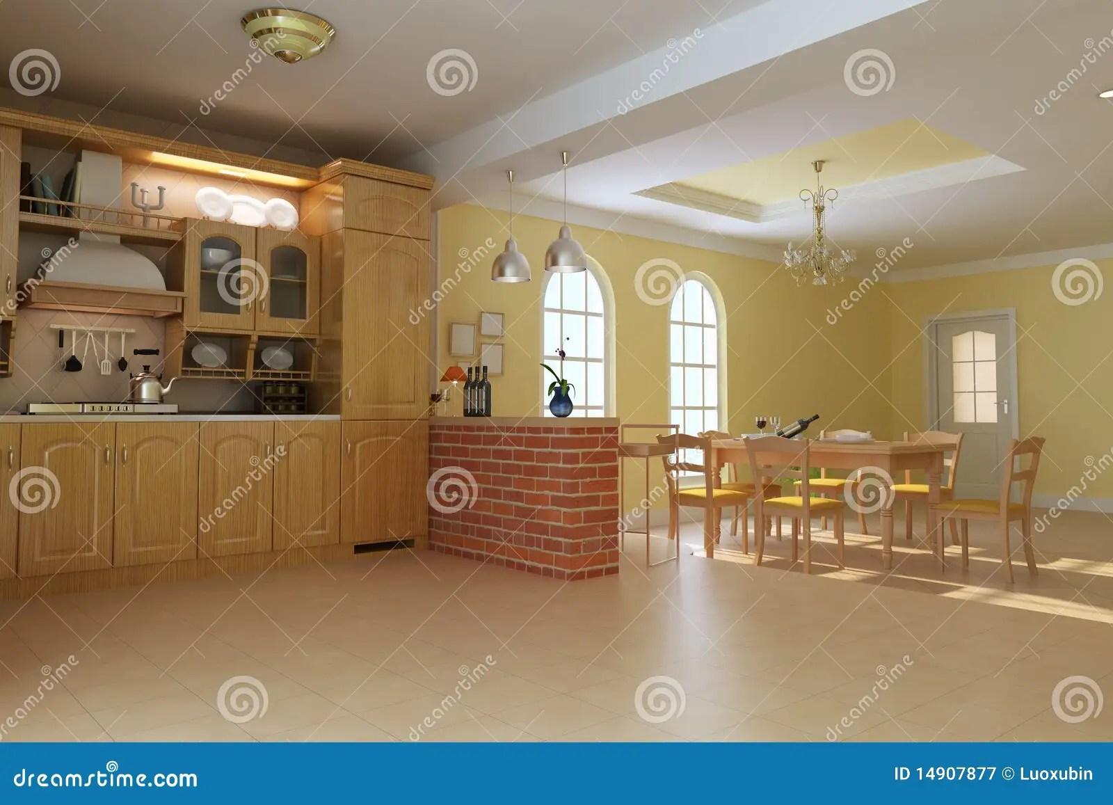 Cucina E Sala Da Pranzo Di Lusso Classiche Illustrazione di Stock  Illustrazione di giorno