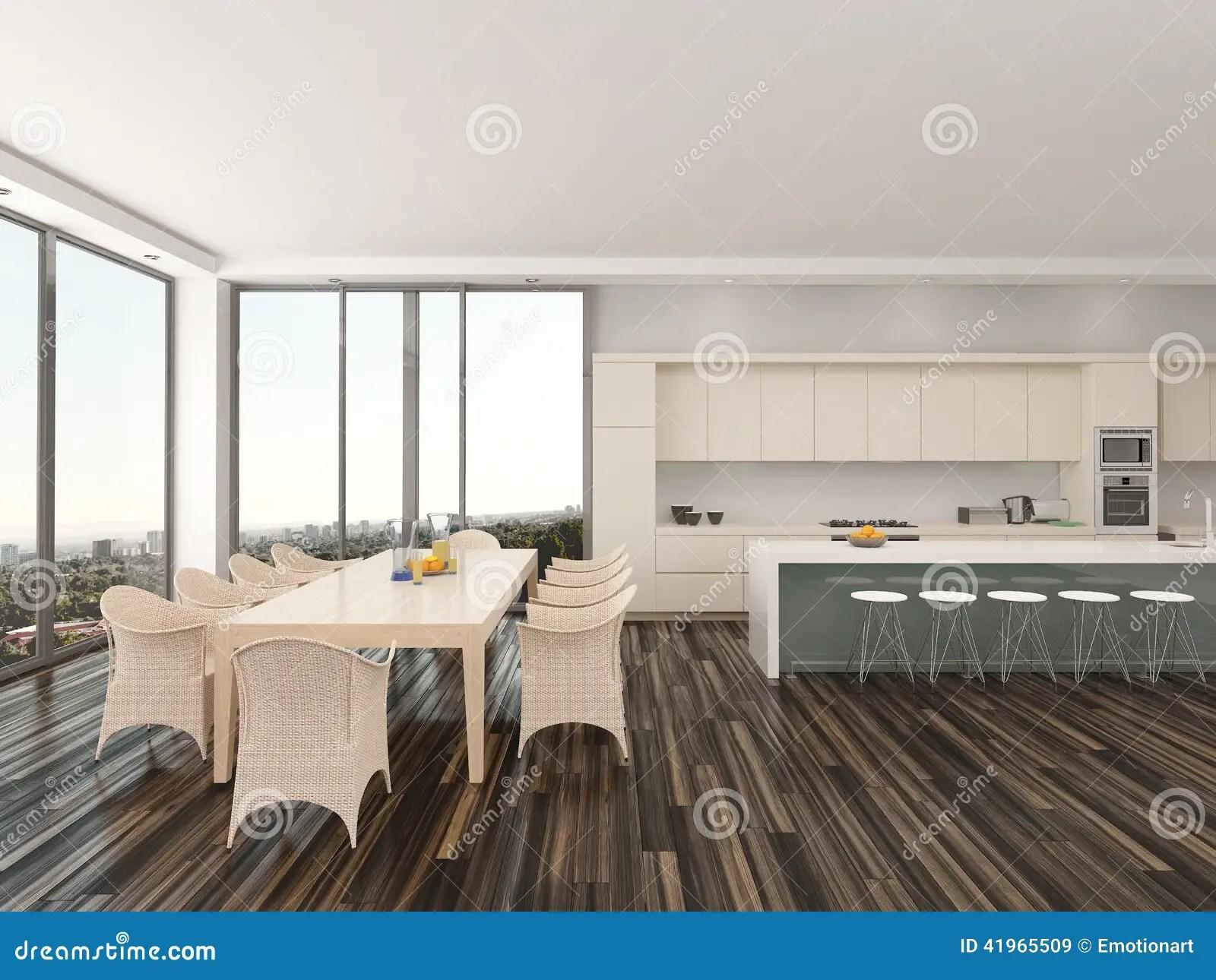 Cucina E Sala Da Pranzo Raffinate Di Aperto Piano Illustrazione di Stock  Immagine 41965509