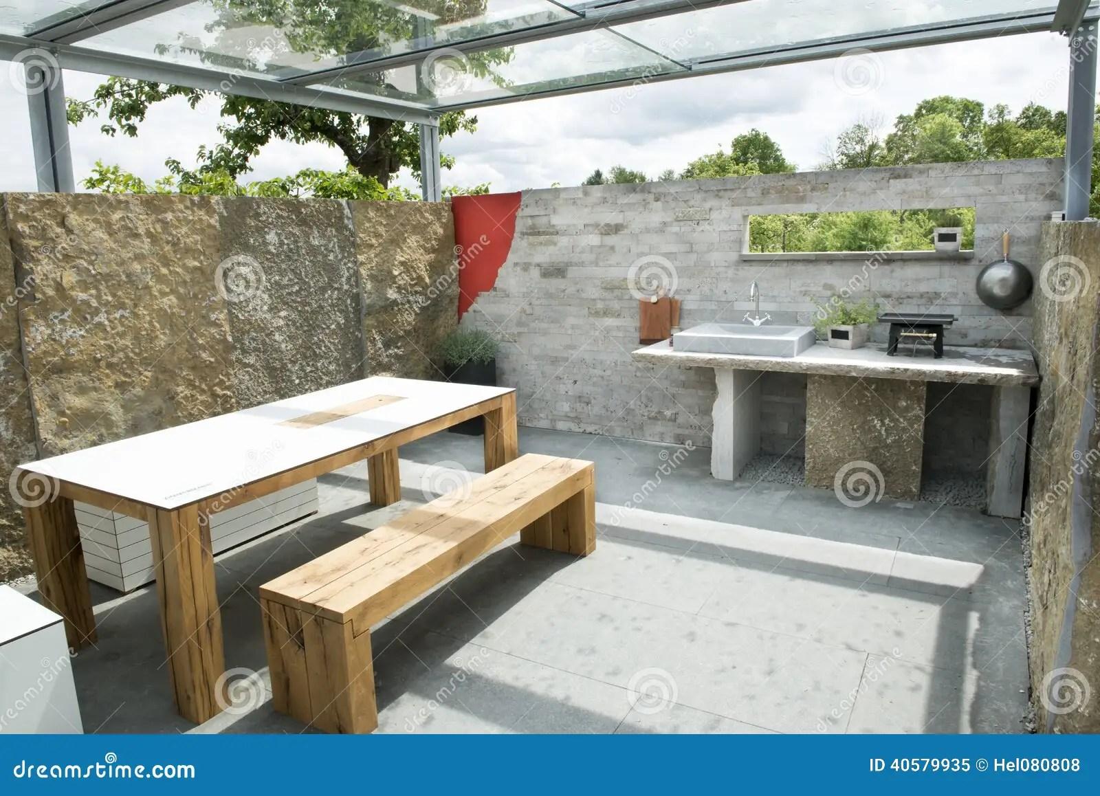 Cucina esterna immagine stock Immagine di terrazzo sgabelli  40579935