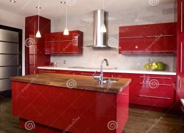 Cucina Stosa Rossa   Cucina Rossa Laccata Idee Di Interior Design ...