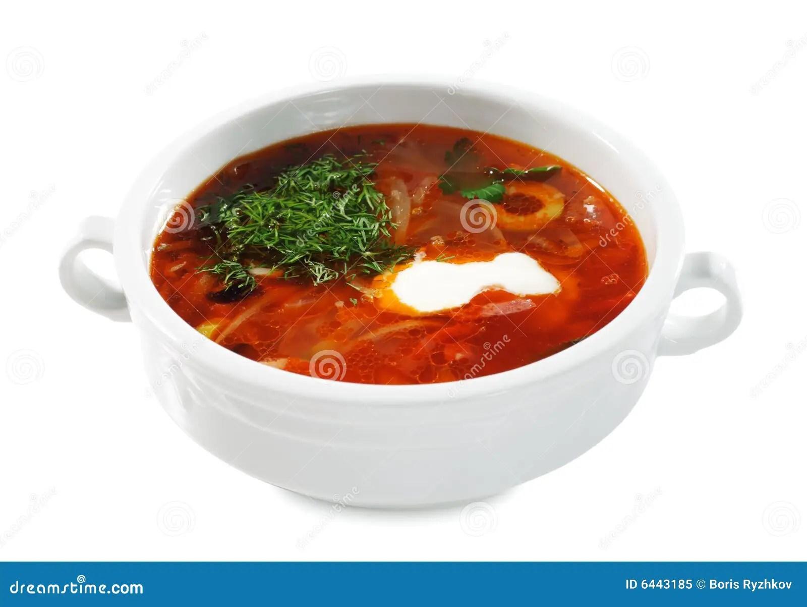 Cucina Russa Ed Ucraina  Minestra Solyanka Fotografia Stock Libera da Diritti  Immagine 6443185